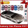2015New luxury metal body mini car mobile phone support car lamp dual SIM image
